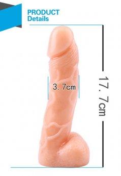T Skin Spread Me Gerçekçi Dildo 18 Cm