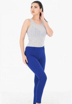 Cep Detaylı Pantolon Tayt Mavi