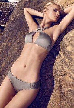 Gri Aksesuarlı Bikini