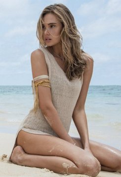 Örgü Şık Plaj Elbisesi