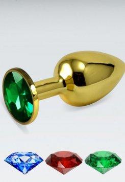 Küçük boy gold anal plug Yeşil
