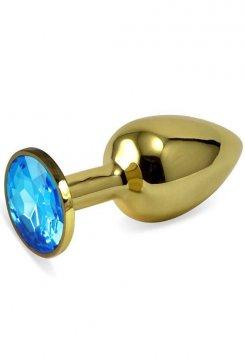 Metal Taşlı Gold Anal Plug