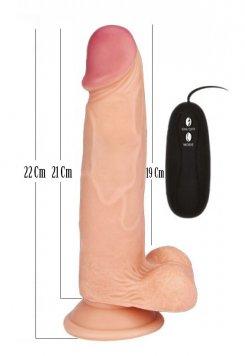 Nokta Sex Shop Realistik 22 Cm Titreşimli Vibratör