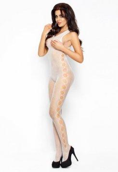 Fileli Seksi Beyaz Vücut Çorabı