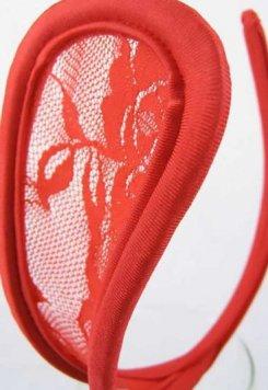 Dantelli Kırmızı G String
