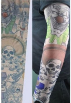 Paylaço Kuru Kafa Giyilebilir Dövme