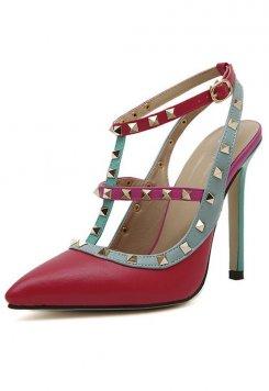 Yüksek Topuklu Perçinli Sandalet Ayakkabı