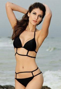 Siyah Özel Tasarım Bikini