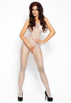 Özel Bölgesi Açık Erotik Beyaz Vücut Çorabı
