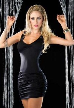 Merry See Siyah Arkası Çapraz Şık Elbise