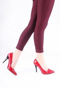 Kırmızı Rugan Stiletto