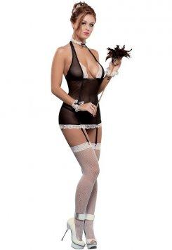 Askılı Sexy Hizmetçi Kostümü