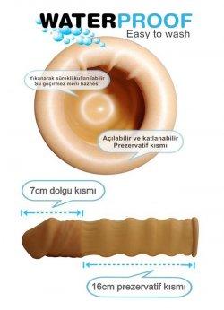 7 Cm Dolgulu Uzatmalı Prezervatif
