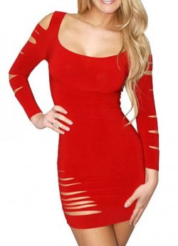 Kırmızı Sexy Gece Elbisesi