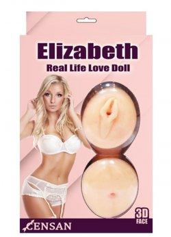 Elizabeth Gerçekçi Sarışın Şişme Bebek