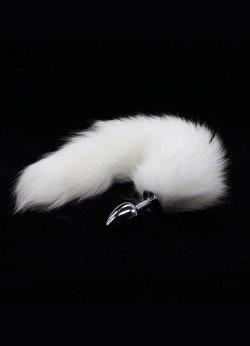 Beyaz Kedi Kuyruklu Anal Tıkaç