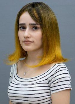 Hardal Sarısı Kleopatra Peruk Modeli