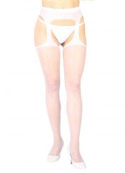 Özel Ve Yan Bölgeleri Açık Transparan Beyaz Fantazi Külotlu Çorap