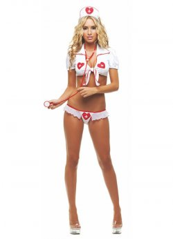 Sexy Dekolte Hemşire Kostümü