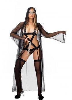 Fantazi Giyim Jartiyer ve File Gecelik Takım