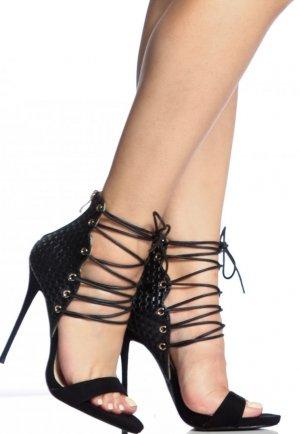 Parti ve Gece Stiletto Deri Stiletto Ayakkabı