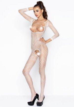 Desenli Beyaz Vücut Çorabı