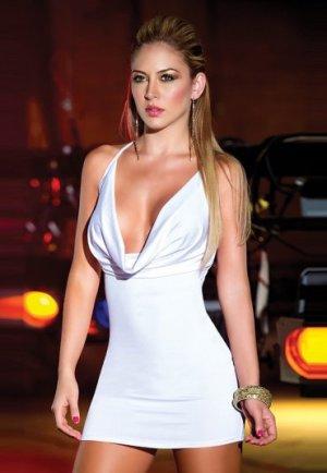Sırtı Metal Aksesuarlı Beyaz Mini Ebise