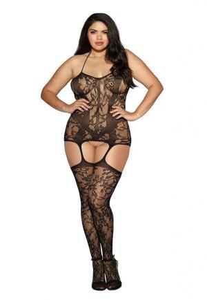 Nokta Sex Shop Jartiyerli Büyük Beden Vücut Çorabı