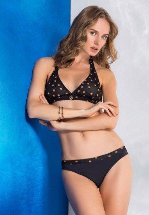 Seksi Tasarım Puantiyeli Siyah Bikini Licia