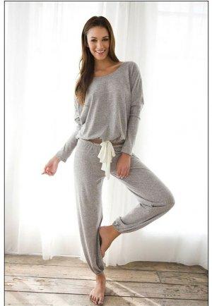 Gri Eşofman Pijama Alt
