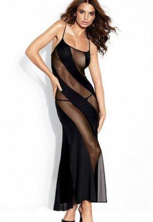 Sexy Siyah Uzun Gecelik