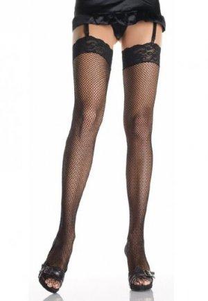 Seksi Dantelli Fileli Diz Üstü Çorap