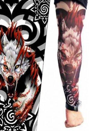Tattoo Kurt Fügürlü Giyilebilir Dövme