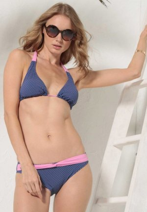 Puantiyeli Mavi Bikini İlea