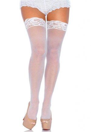 Geniş Dantelli Jartiyer Çorabı