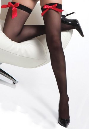 Fiyonklu Şık Jartiyer Çorabı