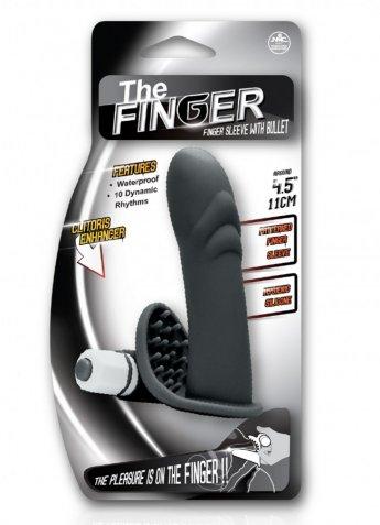 The Finger Titreşimli Klitoris Uyarıcılı Parmak Kılıfı