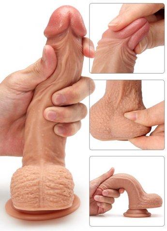 Medikal Silikon Et Dokusunda Extra Yumuşak Dildo Penis