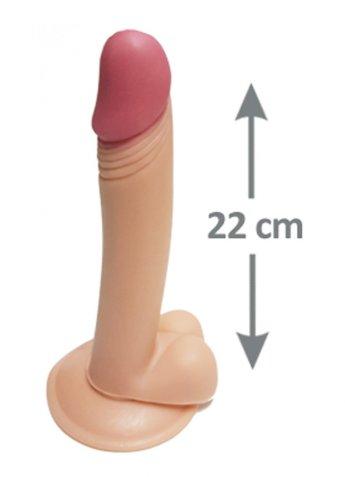 Pleasure 22 cm Testisli Gerçekçi Dildo
