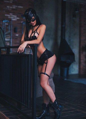 Kalp Detaylı Seksi Deri Fantazi Takım
