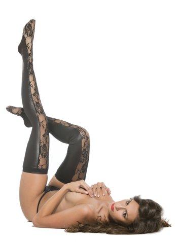 Deri Önü Dantel Seksi Uzun Çorap