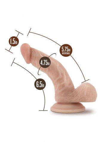 Nokta Shop 18 CM Gerçekçi Eğik Dildo Penis