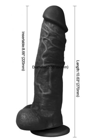 King Kalın Et Dokusu Zenci Realistik Penis