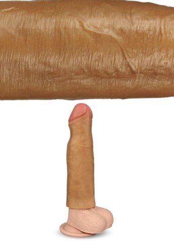 Gerçek Doku 5 Cm Dolgulu Penis Kılıfı