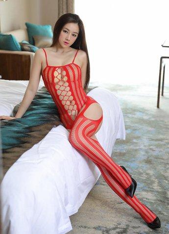 Seksi Vücut Çorabı Geniş Fileli Tasarım