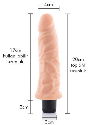 Gerçekçi Dokulu Titreşimli Vibratör 20 Cm