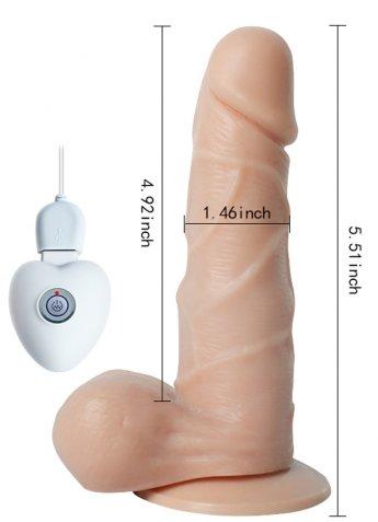 Titreşimli Oynarbaşlı Şarjlı Vibratör Penis