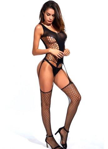 Vücut Çorabı Geniş Fileli