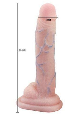 Ten Renginde Testisli Kalın Damarlı VantuzLu Realistik Penis