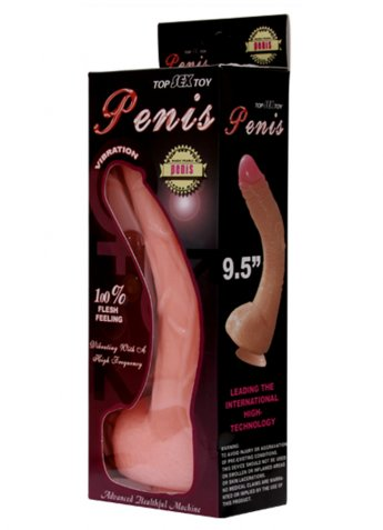 Ten Renginde Vantuzlu Testisli Titreşimli Realistik Penis